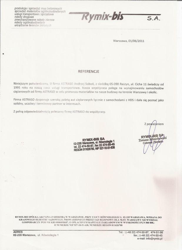 ASTRASO – Referencja 3
