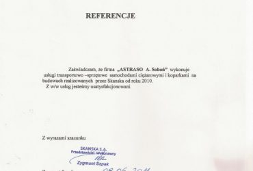ASTRASO – Referencja 2